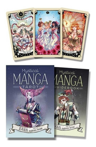 mystical manga tarot deck & book en ingles