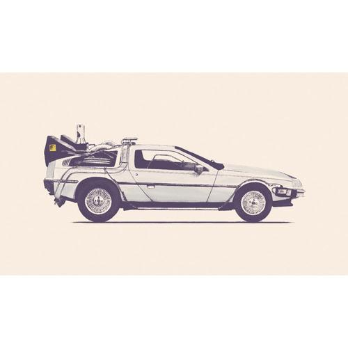mywonderfulwalls futurista delorean coche calcomanía de pare