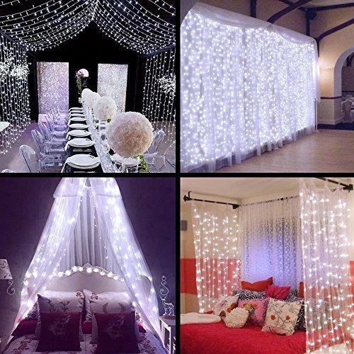 mzd8391 las luces de hadas de la cortina, 9.8ft × 9.8ft 304