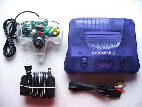 n-64 série limitada multisabores + controle novo e cabos!!