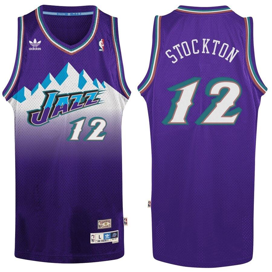 hot sale online 53d0f 8c8c8 N. B. A. Jersey Utah Jazz #12 Stockton (vintage) Talla L