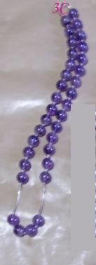 n2c collar de amatistas de1 0 mm y plata fina