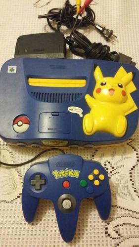 n64 consola con hey you pikachu