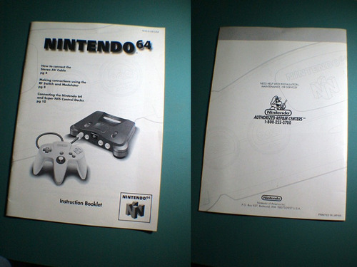n64 manuales completos nintendo 64