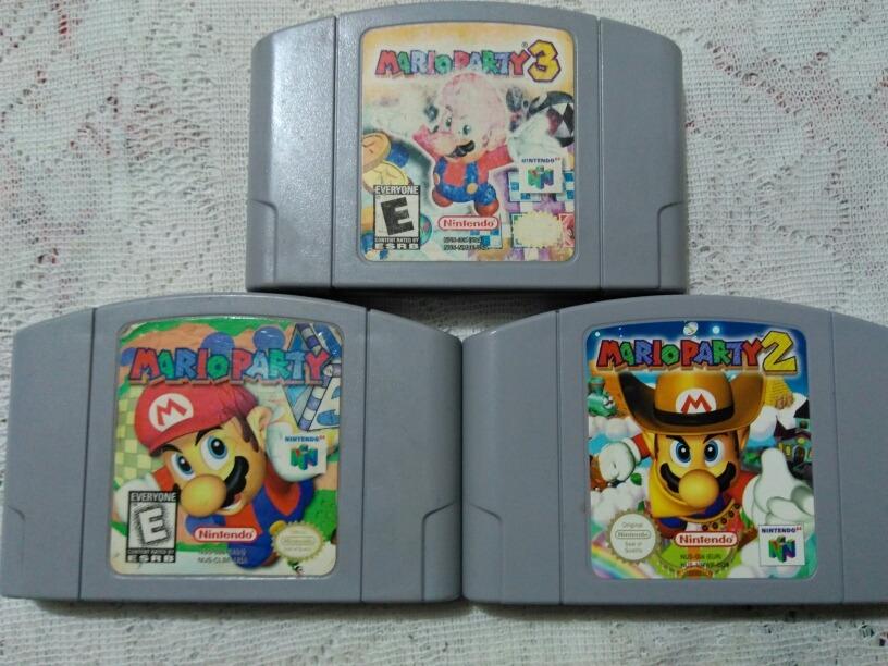N64 Mario Party 1,2,3