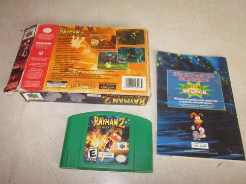 n64 rayman 2 en caja con manual muy raro!!