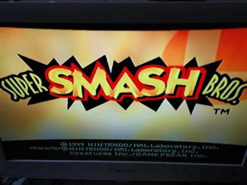 n64 smash bros portada reimpresa