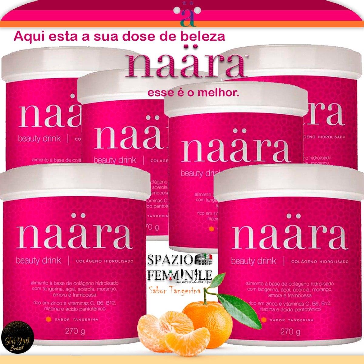 cdad23836 Naara Beauty Drink Colageno Hidrolizado O Melhor 6uni - R  461