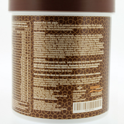 naara chocolate verisol - colágeno hidrolisado - jeunesse
