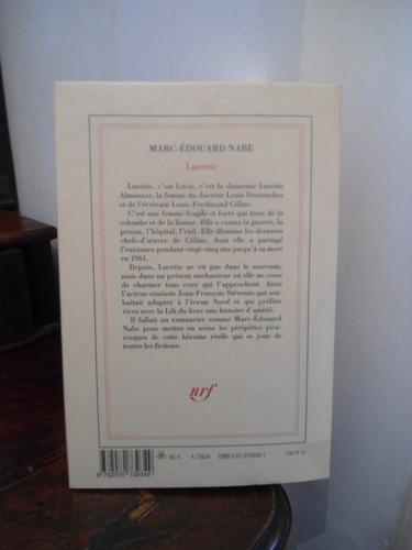 nabe, marc-edouard lucette. roman (celine)