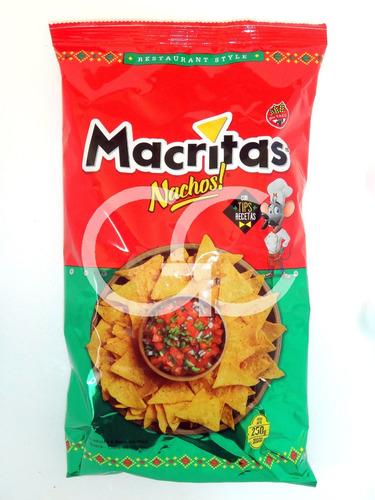 nachos macritas restaurant style 15u x 250g