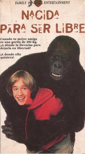nacida para ser libre 1995 gorilas vhs castellano