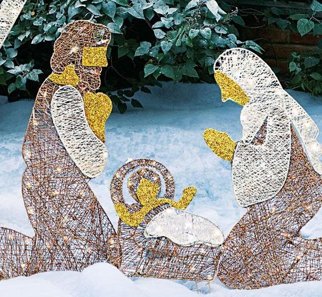 75333f6789a Adornos Navidad Nacimiento Grande Iluminado Decoracion Exter ...
