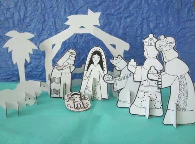 Fotos Del Nacimiento De Navidad.Nacimiento Navidad Colorear Carton