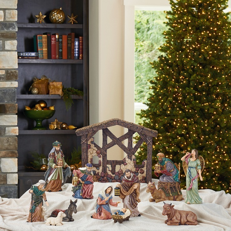 de185c5ed1d Nacimiento navideño niño jesús decoración navideño jpg 740x740 Decoracion  nacimiento de jesus