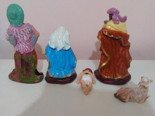 nacimiento pesebre grande tradicional pintado mano 11 piezas