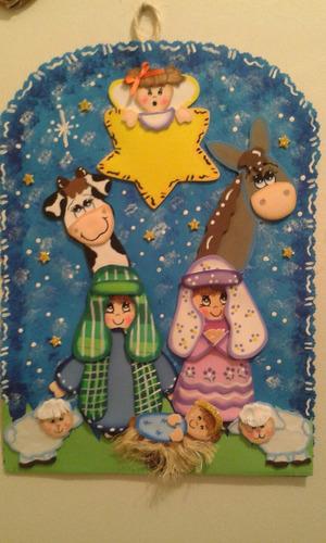 nacimiento pesebre navidad foami anime