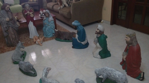 nacimiento pesebre navideño cerámica tamaño grandes 100$