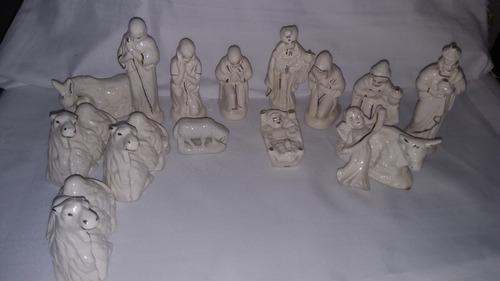 nacimiento pesebre navideño cerámica tamaño grandes únicos