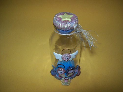 nacimientos en porcelana fría botellitas