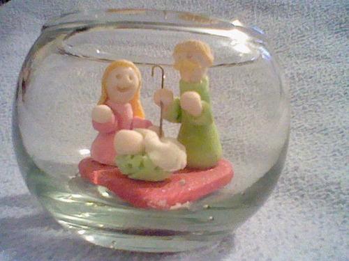 nacimientos masa flexible recuerdos regalos navidad