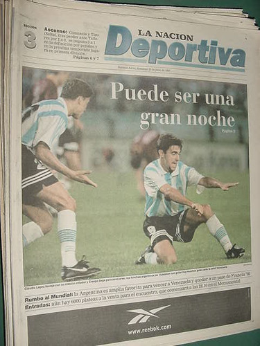 nacion deportiva 20/7/97 gimnasia tiro salta talleres veron