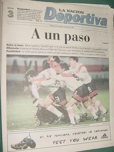 nacion deportiva 7/8/97 river newells independiente español