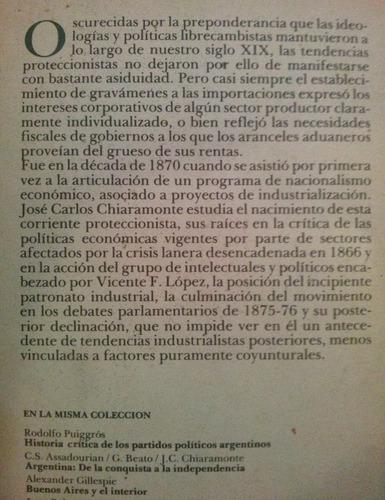 nacionalismo y liberalismo economicos en argentina - chiara