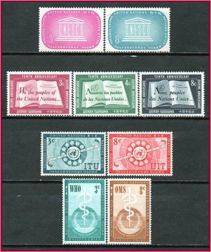nações unidas - 1955-56 - 4 séries completas