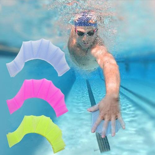 nadadeira de mão de silicone 5sports