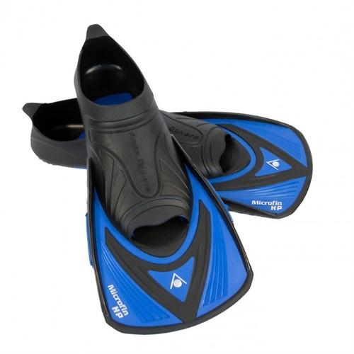 nadadeira pé de pato aquasphere microfin hp preta azul