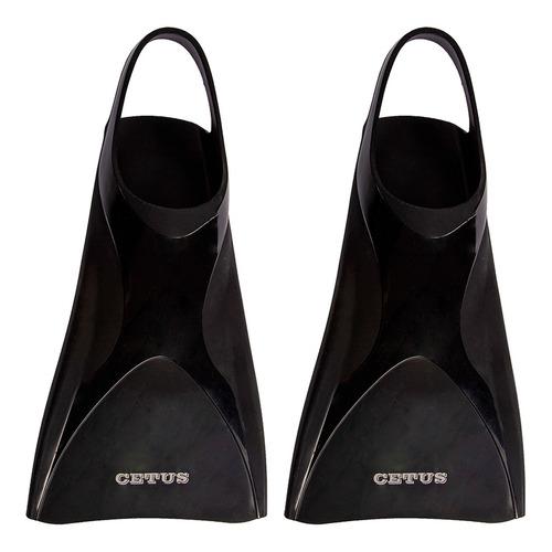 nadadeira pé de pato natação marlin cetus - preta