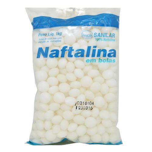 naftalina bolas 6 kg (6 pacotes de 1kg cada)