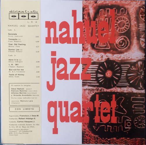 nahuel jazz quartet. vinilo nuevo no sellado reedición 2019