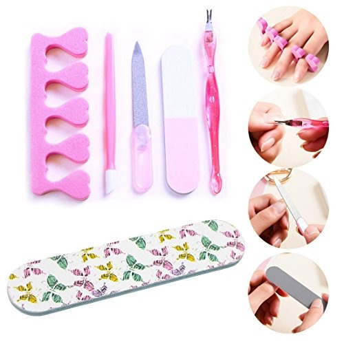96e74955113c3 Nail Art Kit Estampación De Plantillas Con Raspador Cintas ...