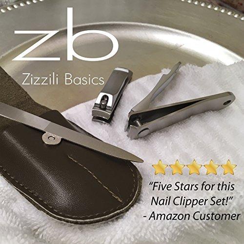 nail clippers by zizzili basics - juego de cortaunas de 3 pi