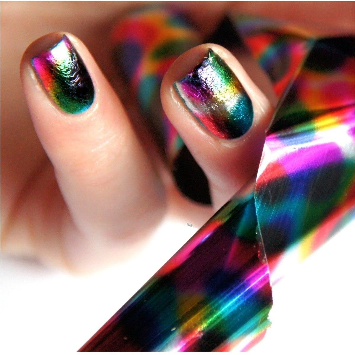 Cinta transfer nail foil papel espejo decoraci n d u as for Decoracion copa efecto espejo