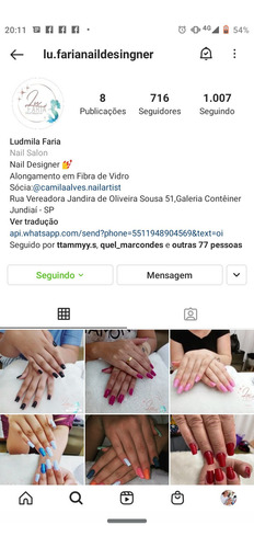 nail designer de unhas.