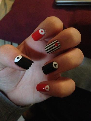 nail sticker adesivo unha loreal paris baralho vermelho pret