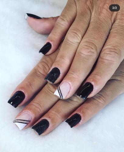 nails - alongamento de unhas (fibra de vidro)