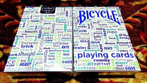 naipe bicycle table talk azul (original y selladas)