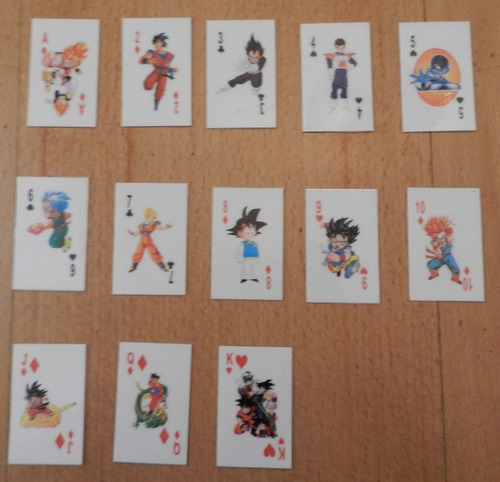 naipe, cartas, barajas dragon ball z