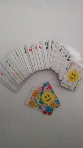 naipe poker mini plastificado souvenir regalo cotillón
