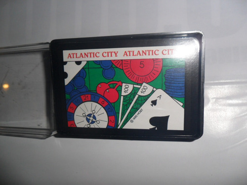 naipes carta joker 1990 host atlantic city hong kong estuche