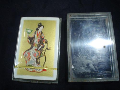 naipes pocker geisha heraclio fournier vitoria made in spain