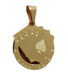 f6fe83a9cd82 Naipes Poker Casino Precioso Dije De Acero Inoxidable 4059