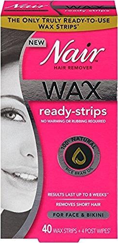 nair hair remover cera ready tiras 40 ea