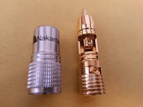 nakamichi conector rca macho (par) (denon, yamaha, pioneer)