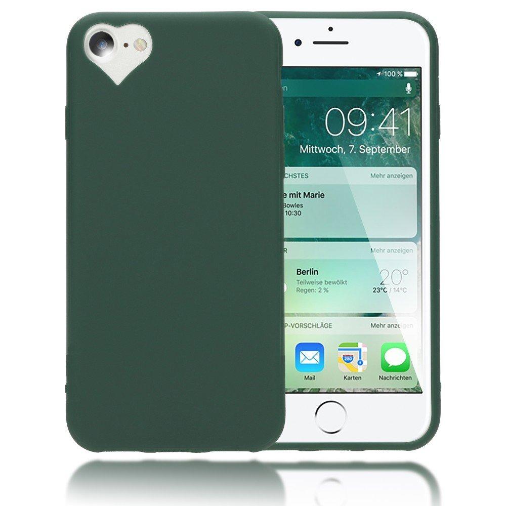 401fa228434 Nalia Heart Funda Para iPhone 8/7, Ultra-thin Silicone Back ...