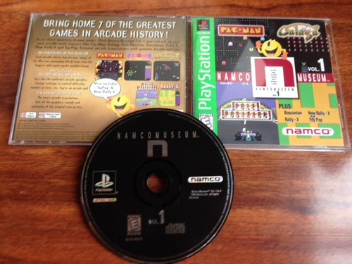 namco museum vol. 1  greatest hits- playstation ps1 ps2 ps3